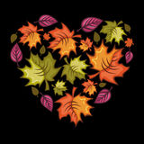Cuore di autunno Immagini Stock