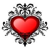 Cuore di baroque di giorno del biglietto di S. Valentino Fotografia Stock