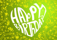 Cuore di buon compleanno Immagini Stock Libere da Diritti