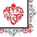 Cuore di Buon Natale Fotografia Stock Libera da Diritti