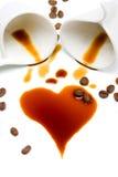 Cuore di caffè Fotografia Stock
