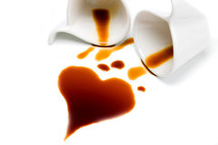 Cuore di caffè Immagine Stock