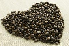 Cuore di caffè Immagini Stock