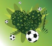 Cuore di calcio Fotografia Stock