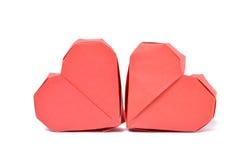Cuore di carta di Origami Immagini Stock