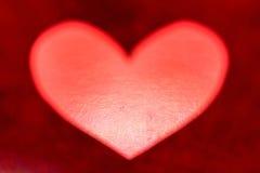 Cuore di carta rosso Fotografia Stock