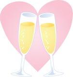Cuore di Champagne Immagine Stock
