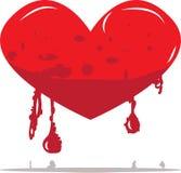 Cuore di fusione rosso illustrazione di stock