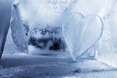 Cuore di ghiaccio Immagini Stock Libere da Diritti