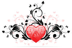 Cuore di giorno del biglietto di S. Valentino royalty illustrazione gratis