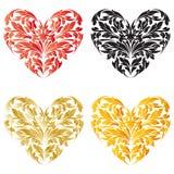 Cuore di giorno del biglietto di S. Valentino stilizzato royalty illustrazione gratis