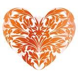 Cuore di giorno del biglietto di S. Valentino stilizzato illustrazione vettoriale