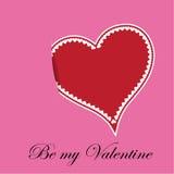 Cuore di giorno di biglietti di S. Valentino illustrazione vettoriale