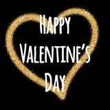 Cuore di giorno di biglietti di S. Valentino di scintillio Giorno del biglietto di S Fondo di vettore Fotografia Stock