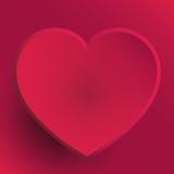 Cuore di giorno di biglietti di S. Valentino - rosa caldo Fotografie Stock
