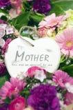 Cuore di giorno di madri Immagini Stock Libere da Diritti