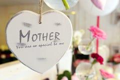 Cuore di giorno di madri Fotografie Stock Libere da Diritti