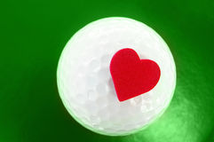Cuore di golf Fotografie Stock