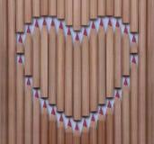 Cuore di legno Immagini Stock