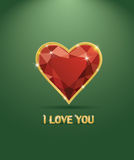 Cuore di lusso del diamante di giorno di Valentineâs Immagini Stock Libere da Diritti