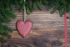 Cuore di Natale Fotografia Stock Libera da Diritti