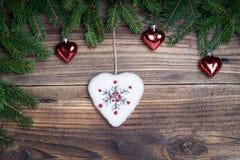 Cuore di Natale Fotografia Stock