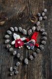 Cuore di Natale Immagini Stock