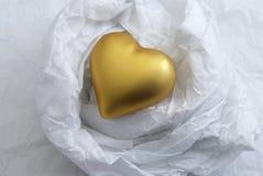 Cuore di oro Immagine Stock