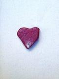 Cuore di pietra rosso Immagine Stock