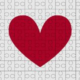 Cuore di puzzle Fotografia Stock Libera da Diritti