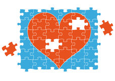Cuore di puzzle del puzzle, vettore Immagini Stock Libere da Diritti