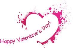 Cuore di rosa di lerciume del biglietto di S. Valentino Immagini Stock