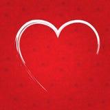 Cuore di rosso del documento di giorno di biglietti di S. Valentino Fotografie Stock