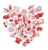 Cuore di SMS Fotografia Stock