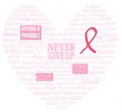 Cuore di sostegno del cancro della mammella Immagini Stock Libere da Diritti