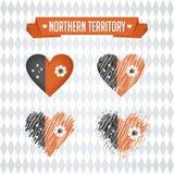Cuore di Territorio del Nord con l'interno della bandiera Simboli grafici di vettore di lerciume illustrazione vettoriale