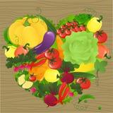 Cuore di verdure illustrazione vettoriale
