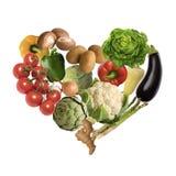 Cuore di verdure Fotografia Stock