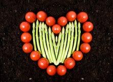 Cuore di verdure immagini stock