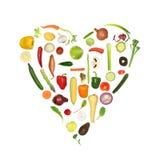 Cuore di verdure sano Immagine Stock