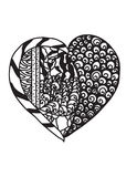 Cuore di Zentangle Immagine Stock