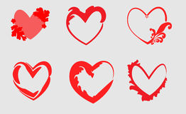 Cuore differente Fotografia Stock