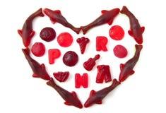 Cuore dolce della caramella Fotografia Stock Libera da Diritti