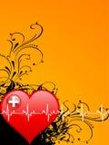 Cuore e battiti cardiaci Immagine Stock Libera da Diritti