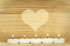 Cuore e candela Fotografia Stock Libera da Diritti