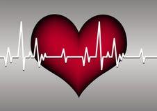 Cuore e cardiogram illustrazione di stock