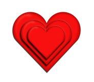 Cuore e cuore Fotografia Stock