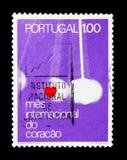 Cuore e movimento Pendular, serie internazionale di mese del cuore, circa 1972 Immagine Stock Libera da Diritti