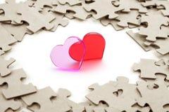 Cuore e puzzle fotografia stock libera da diritti