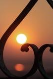 Cuore e tramonto immagini stock libere da diritti